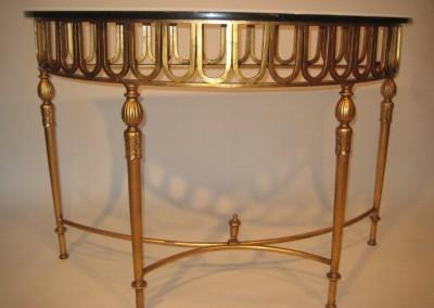 Louis XVI Demi Lune Steel Console
