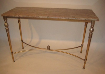 Louis_XVI_Steel Console Marble_Top