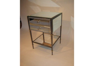 Mirrored Night-Stand Steel
