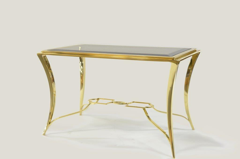 Saber Steel wrought Iron Gold Leaf Finish